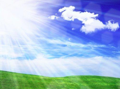 太陽と大草原