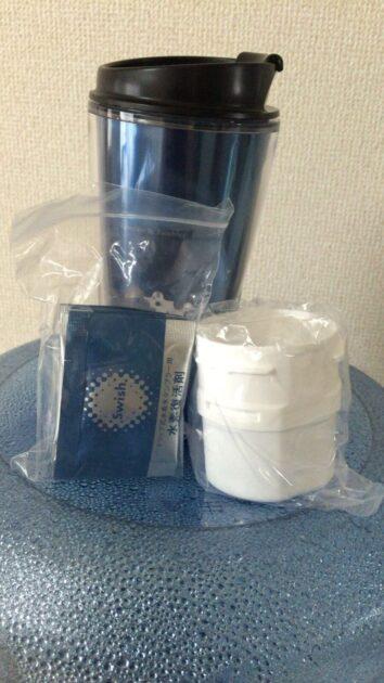 携帯できるドリップ式水素水タンブラーSwish(スウィッシュ)と付属品