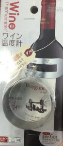 ダイソーのワイン温度計
