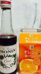 モナンシロップとオレンジジュース