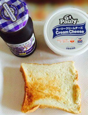 スマッカーズのブルーベリージャムとクリームチーズの組み合わせ最高