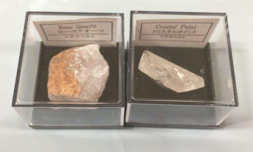 セリアの鉱物 ローズクオーツとクリスタルポイント