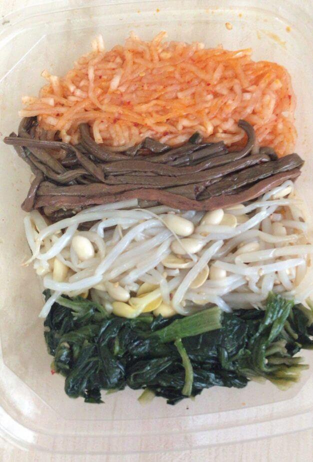 成城石井の新鮮野菜ナムルセットの中身