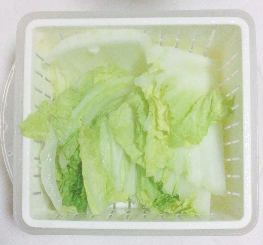 ダイソーの電子レンジ調理器温野菜で白菜を温野菜にしてみた