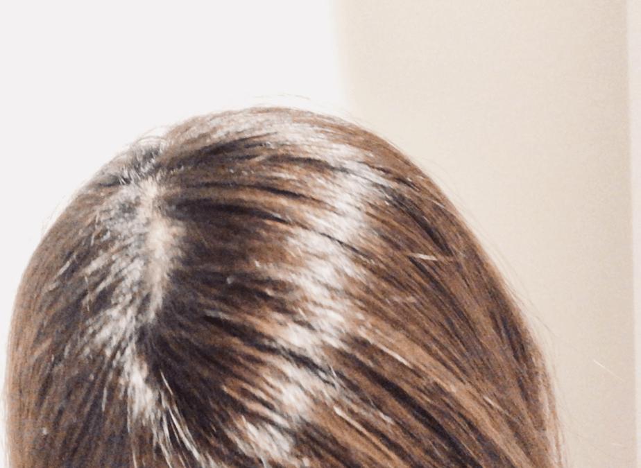 「わたしのきまり」というクリームタイプのシャンプーを使った髪