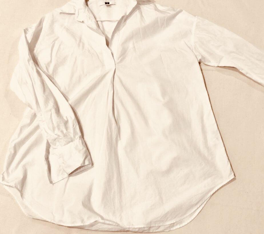 PanasonicのコードレススチームWヘッドアイロンでアイロン掛けしたシャツ