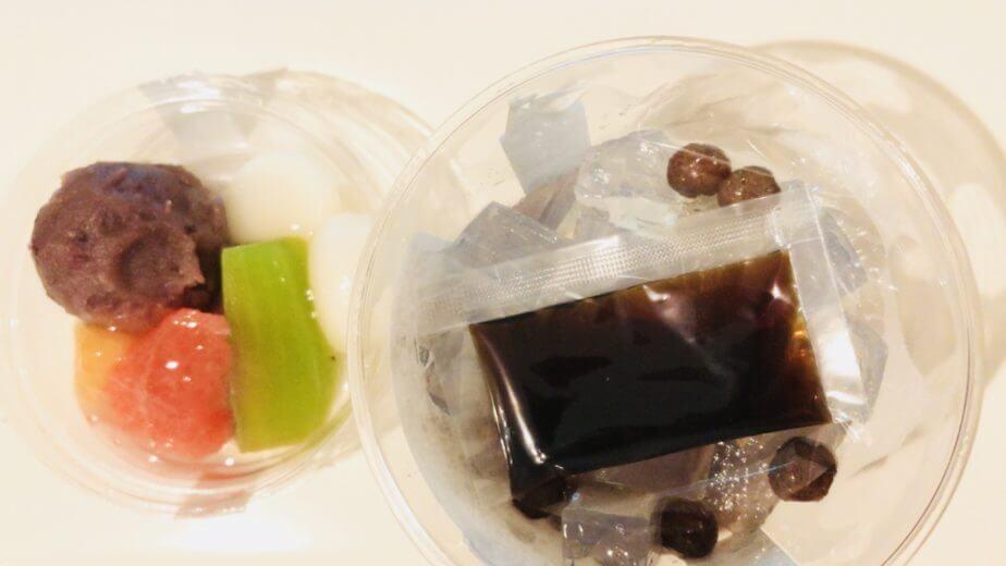 成城石井の新杵 生フルーツあんみつはセお皿が分かれている