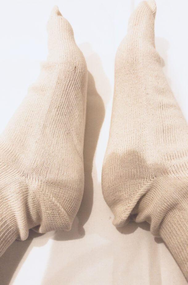 セリアの綿100%の5本指ソックス