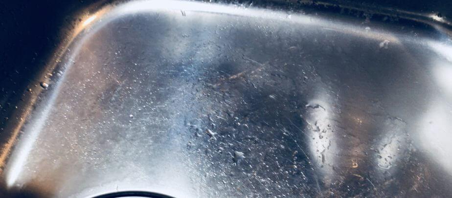 セリアの掃除グッズ「重曹&ゴムのちから」でシンクの汚れを落としてみた