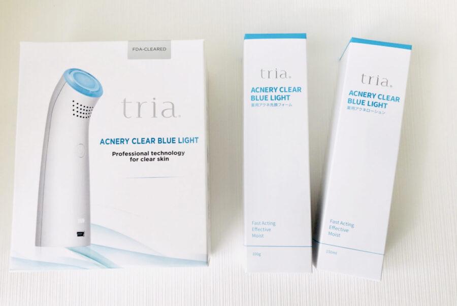 使ってみた。ニキビは美顔器で防げる!tria(トリア)のアクネリークリアブルーライトは肌の奥にいるニキビ菌そのものを抹消してくれる