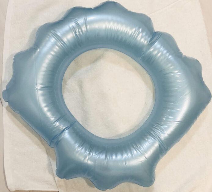 100円ショップセリアの可愛いシェル型浮き輪を購入