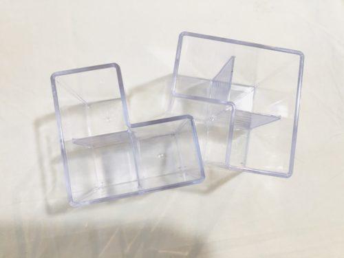 100円ショップダイソーの透明メイクブラシスタンド