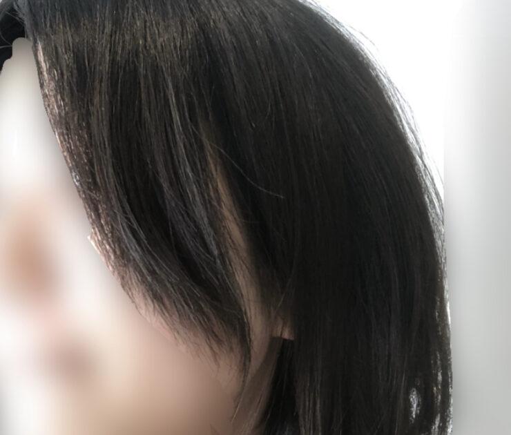 100均のすきバサミを使う前の髪