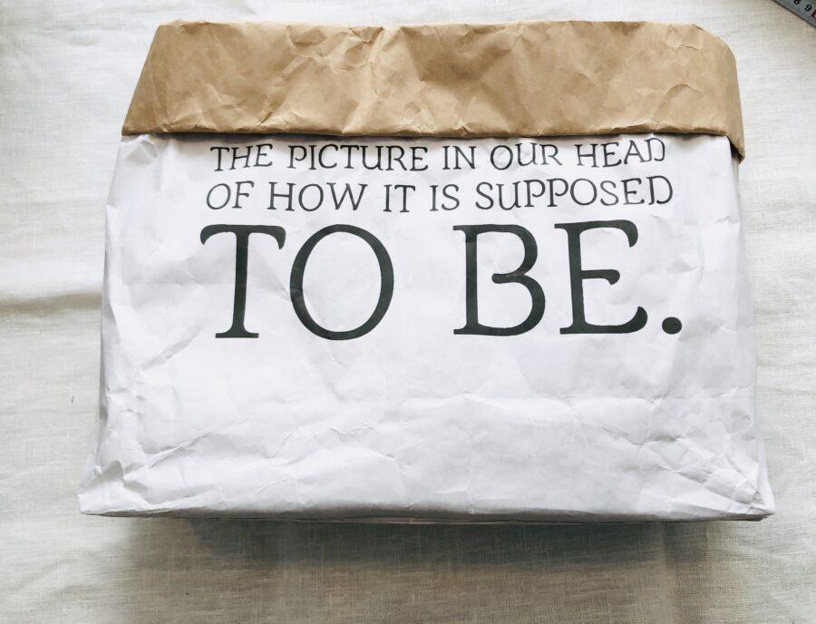 ダイソーのストレージバッグ(紙素材)