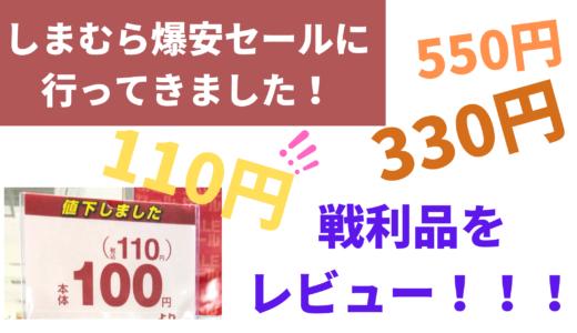 【ブログ】しまむら底値セールの戦利品。最安110円になってた…。セール時期や売り場、私が購入したものをレビューします【2021年更新】