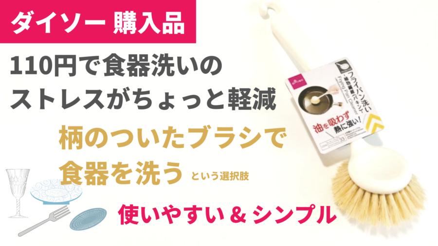 100均ダイソーのフライパン洗い 食物繊維(パキン)